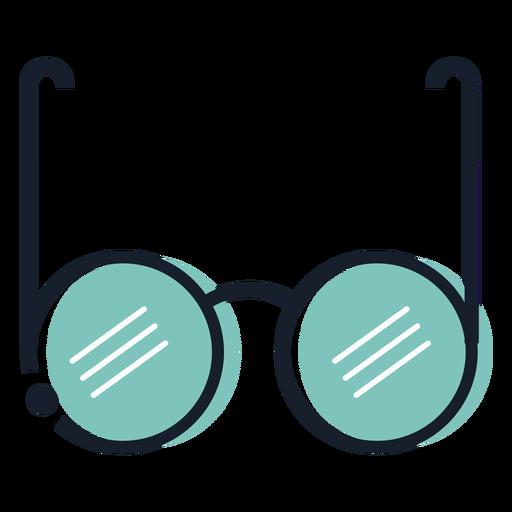 Round glasses stroke icon