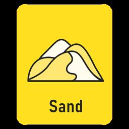 Tarjeta de memoria amarilla arena
