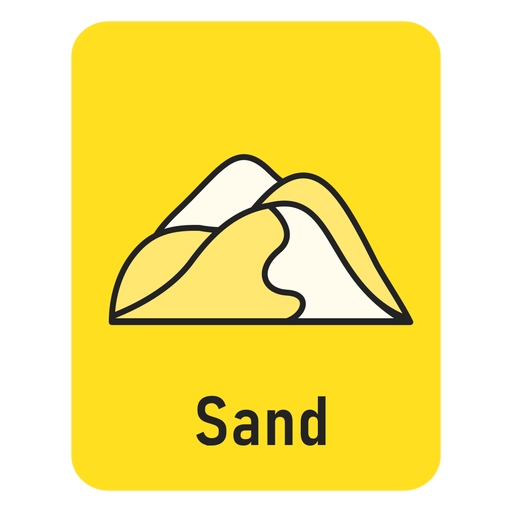 Sand yellow flashcard