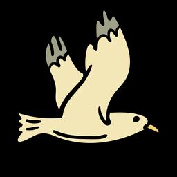 Pássaro gaivota desenhado à mão
