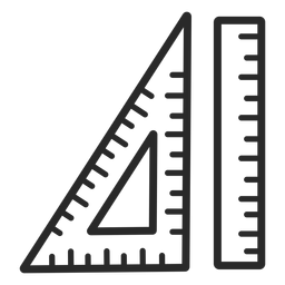 Set of rulers stroke