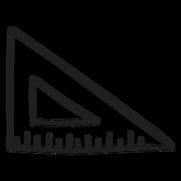 Set square ruler doodle