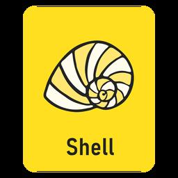 Tarjeta de memoria flash amarilla Shell