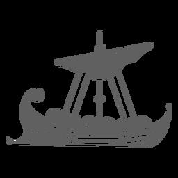 Escudo barco negro