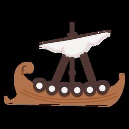 Ilustración de barco escudo