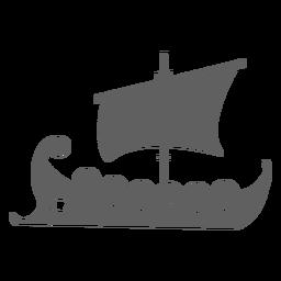 Navio de escudo com olho preto