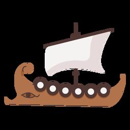 Navio de escudo com ilustração de olho
