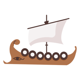Shield ship with eye illustration