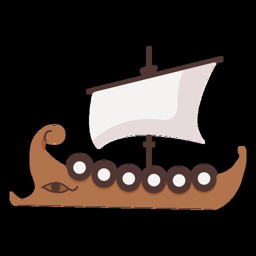 Barco de escudo con ilustración de ojo Transparent PNG