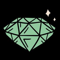 Shining diamond hand drawn