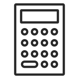 Simple calculator stroke