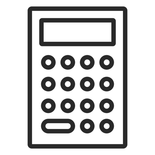 Simple calculator stroke Transparent PNG