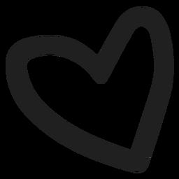 Doodle de corazón simple