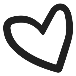 Simple heart doodle