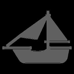 Barco histórico simple negro