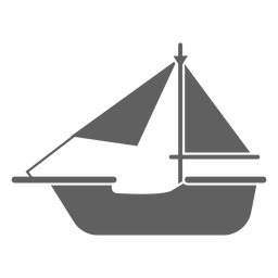 Simple historic boat black