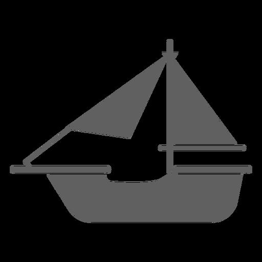 Simple historic boat black