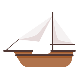 Simple historic boat illustration