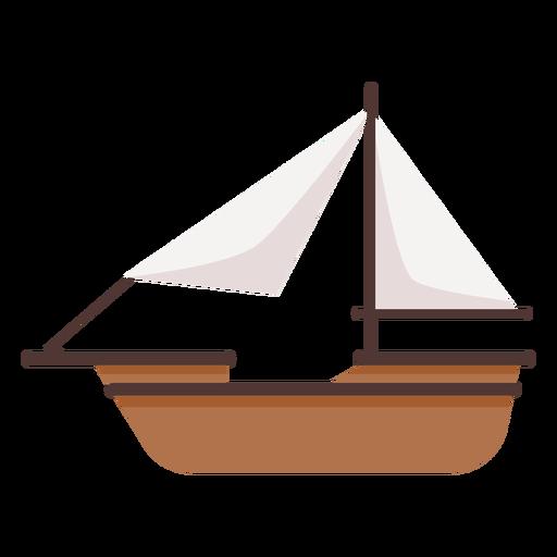 Simple historic boat illustration