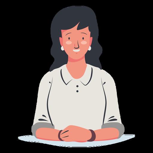 Personaje de mujer sentada Transparent PNG