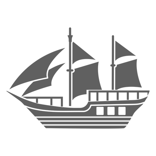 Pequeña carabela histórica negra