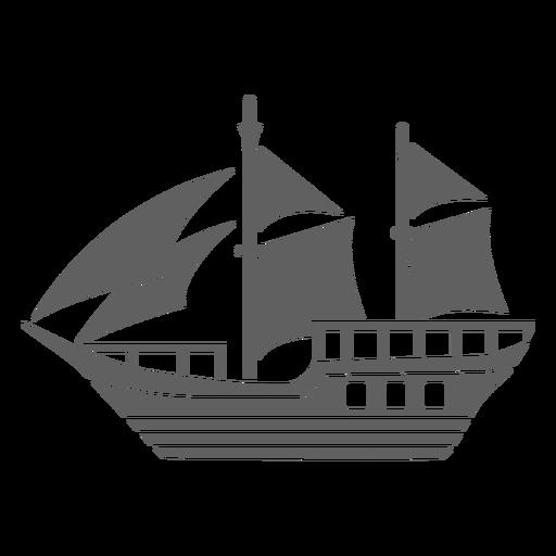 Small historic caravel black