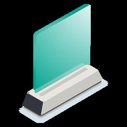 Ilustración de pequeño monitor translúcido