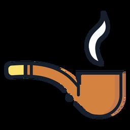 Ícone de traçado de cachimbo