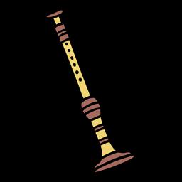 Sopila instrument hand drawn