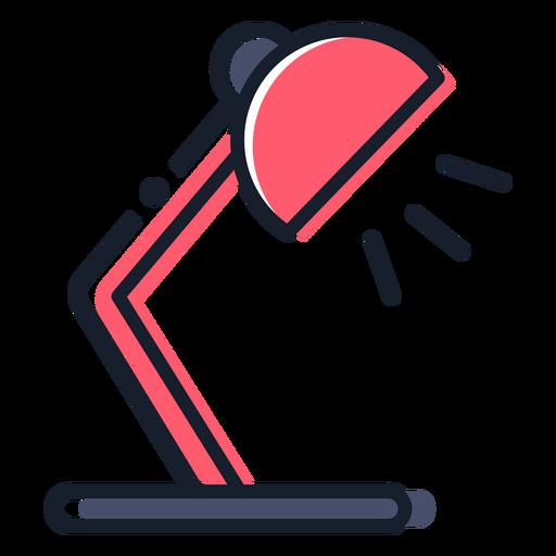 Icono de trazo de lámpara de mesa Transparent PNG