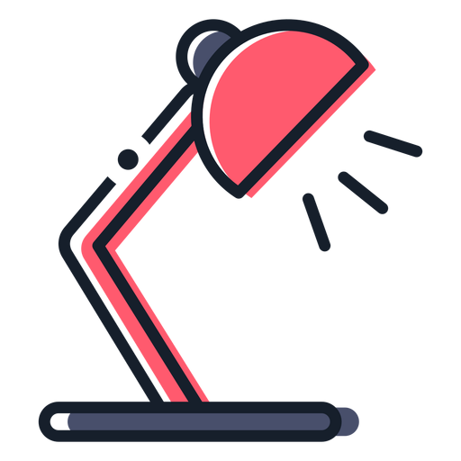 Icono de trazo de lámpara de mesa