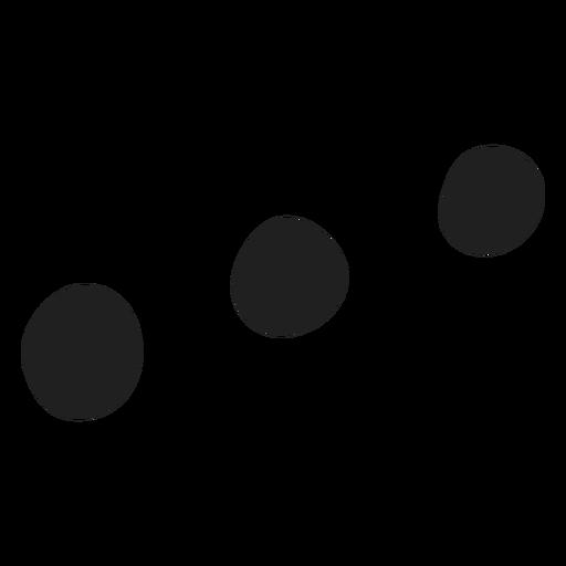 Doodle de tres puntos