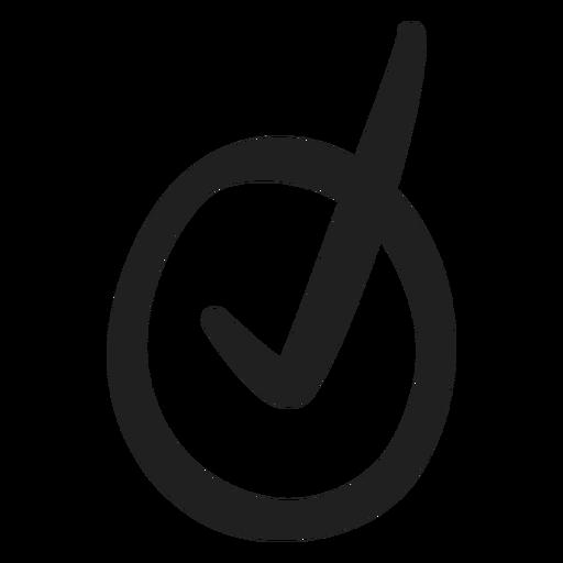 Tick mark doodle