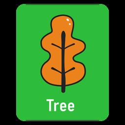 Tree green flashcard