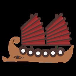 Dos nave de escudo de vela roja