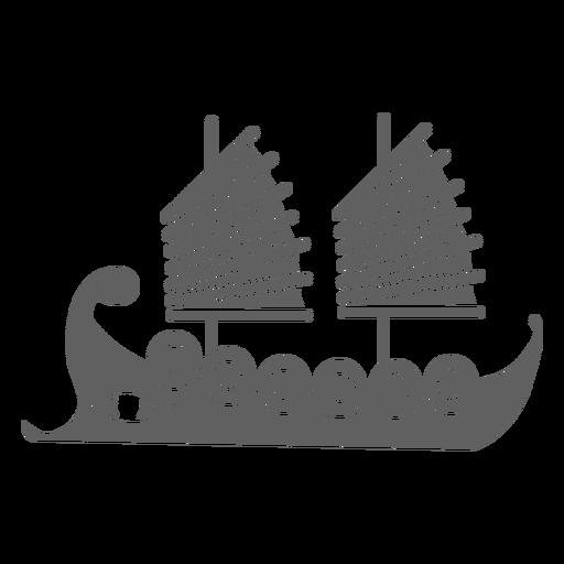 Dos velero rojo negro Transparent PNG