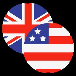 Iconos de estados unidos y reino unido