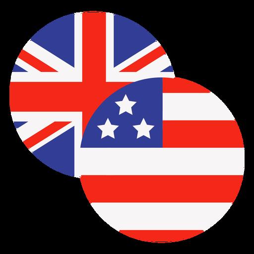 Usa and uk icons