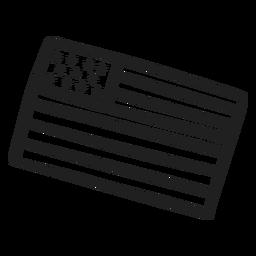 Doodle de bandera de Estados Unidos