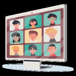 Videollamada con monitor para niños