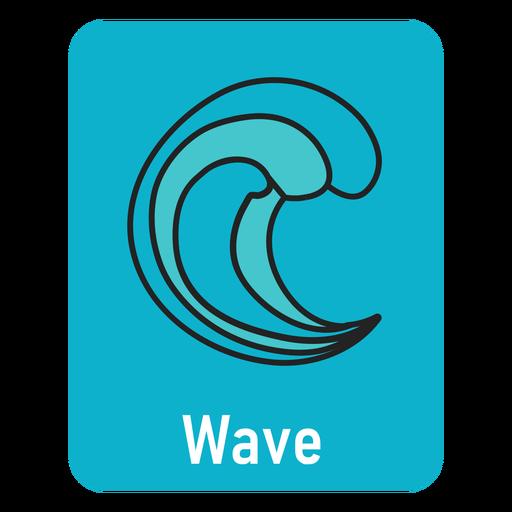 Wave lightblue flashcard