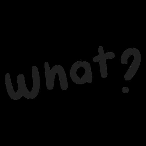 Qué pregunta doodle