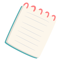 Caderno de escrita plana