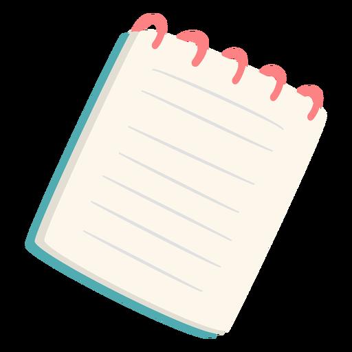 Cuaderno de escritura plano