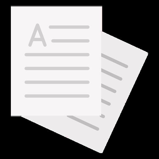 Written paper sheets flat