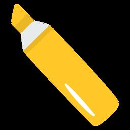 Marcador amarillo plano