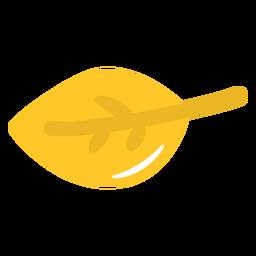 Hoja amarilla plana
