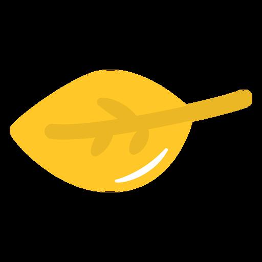 Folha amarela plana