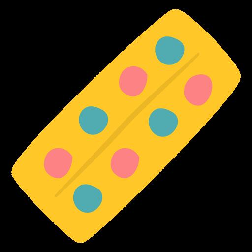 Paleta de tinta amarela