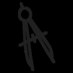Herramienta de brújula doodle